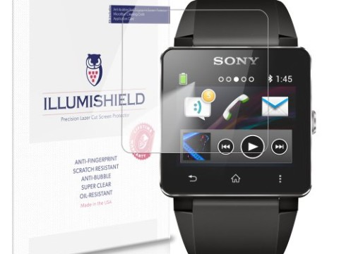 iLLumiShield - Sony Smartwatch 2 Crystal Clear Screen Protectors with Anti-Bubble/Anti-Fingerprint - 3-Pack + Lifetime Replacements