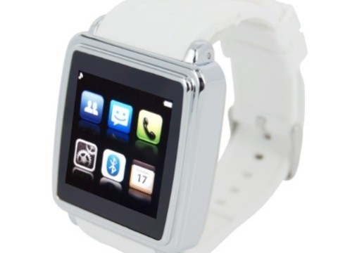 Generic Smartwatch Smart Bluetooth Watch Sync Anti-lost for Iphone Mobile Phone Smartphone White