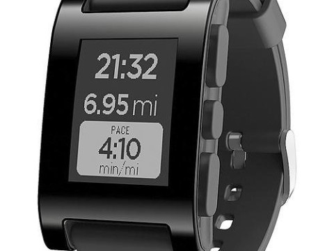 Pebble Smartwatch for iPhone and Android - Black (Bulk Packaging)