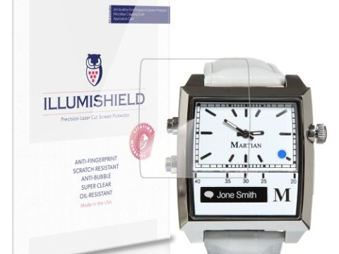 iLLumiShield - Martian Passport Watch Crystal Clear Screen Protectors with Anti-Bubble/Anti-Fingerprint - 3-Pack + Lifetime Replacements