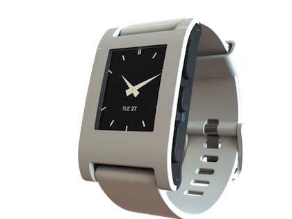 Pebble Smart Watch for iPhone and Android Devices(Arctic White)