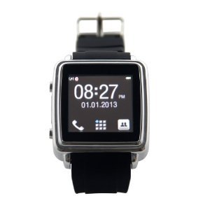 Generic Smartwatch Smart Bluetooth Watch Sync Anti-lost for Iphone Mobile Phone Smartphone Black