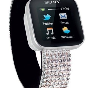 Sony MN2 Bluetooth Smart Watch Swarovski Elements For Samsung Galaxy S4, S3, S2 IGN Best gifts.