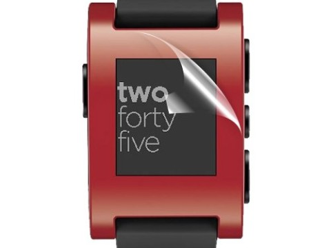 Pebble Smart Watch Premium HD Screen Protectors 1 - Pack - C.Skins HD© Clear LCD Guard