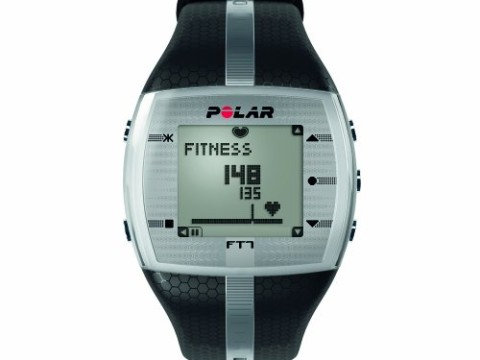 Polar FT7 Men's Heart Rate Monitor Watch M- XXL Strap (Black / Silver)